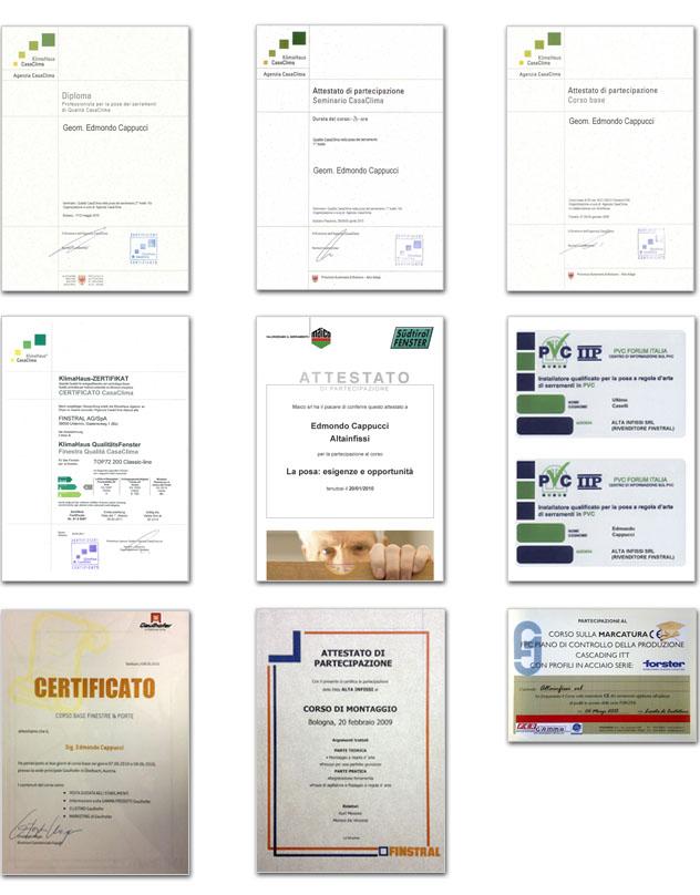 certificazioni qualità altainfissi